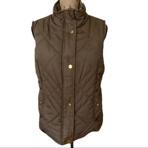 H&M Puffer Vest Brown Tones Small